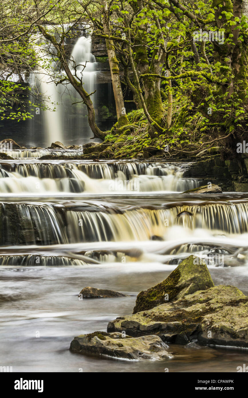 Gibson's Cave near Bowlees in the North Pennines, Teesdale, England - Stock Image