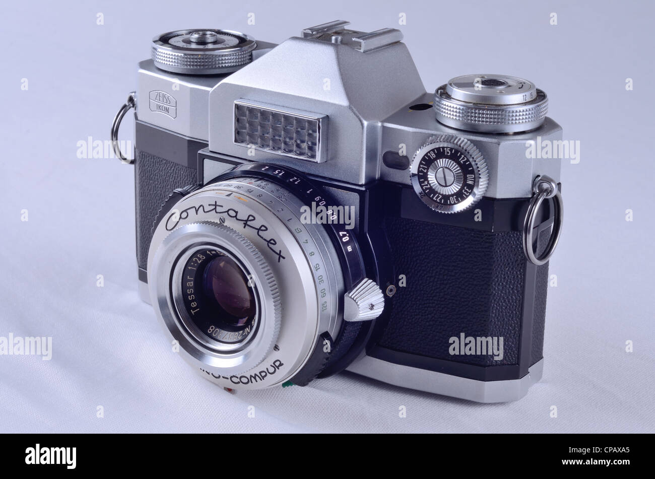 Front view of a 1959 Zeiss Ikon Contaflex Super Stock Photo