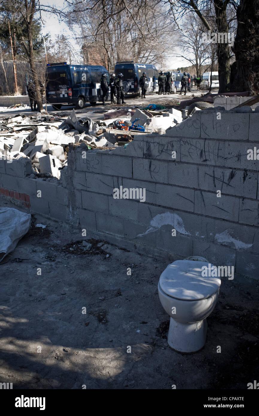 Gypsy Shanty Town Of Puerta De Hierro Madrid Spain They Are