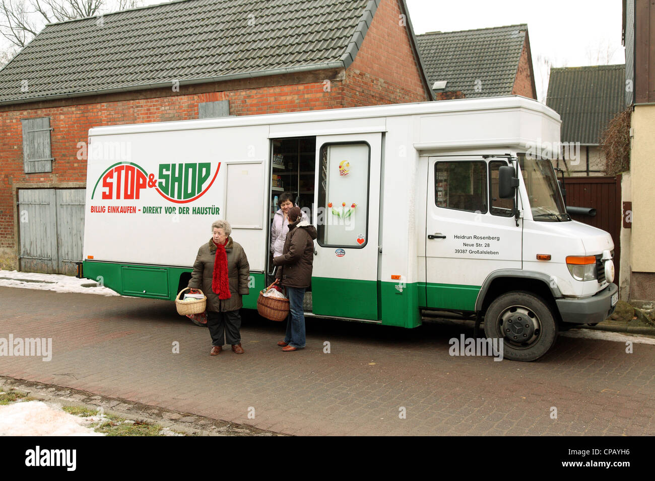 99493d9be617c9 A private mobile grocery store, Hermsdorf, Germany Stock Photo ...