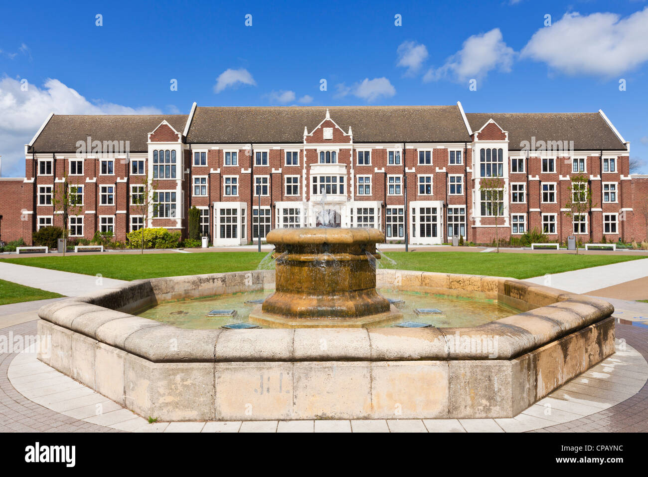 Rutland building for central student administration Loughborough University campus Leicestershire England UK GB - Stock Image