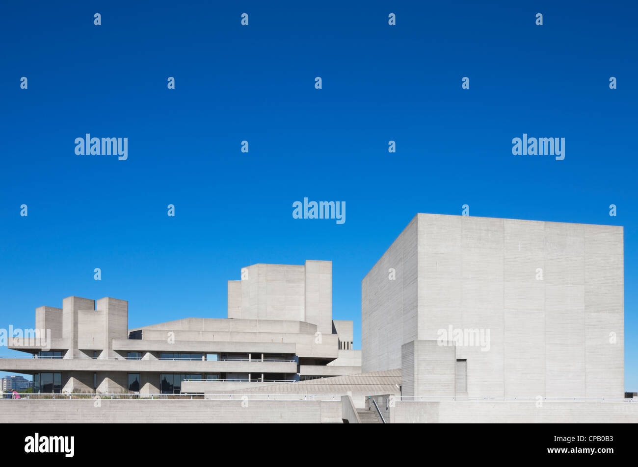 The National Theatre; South Bank; London; England - Stock Image