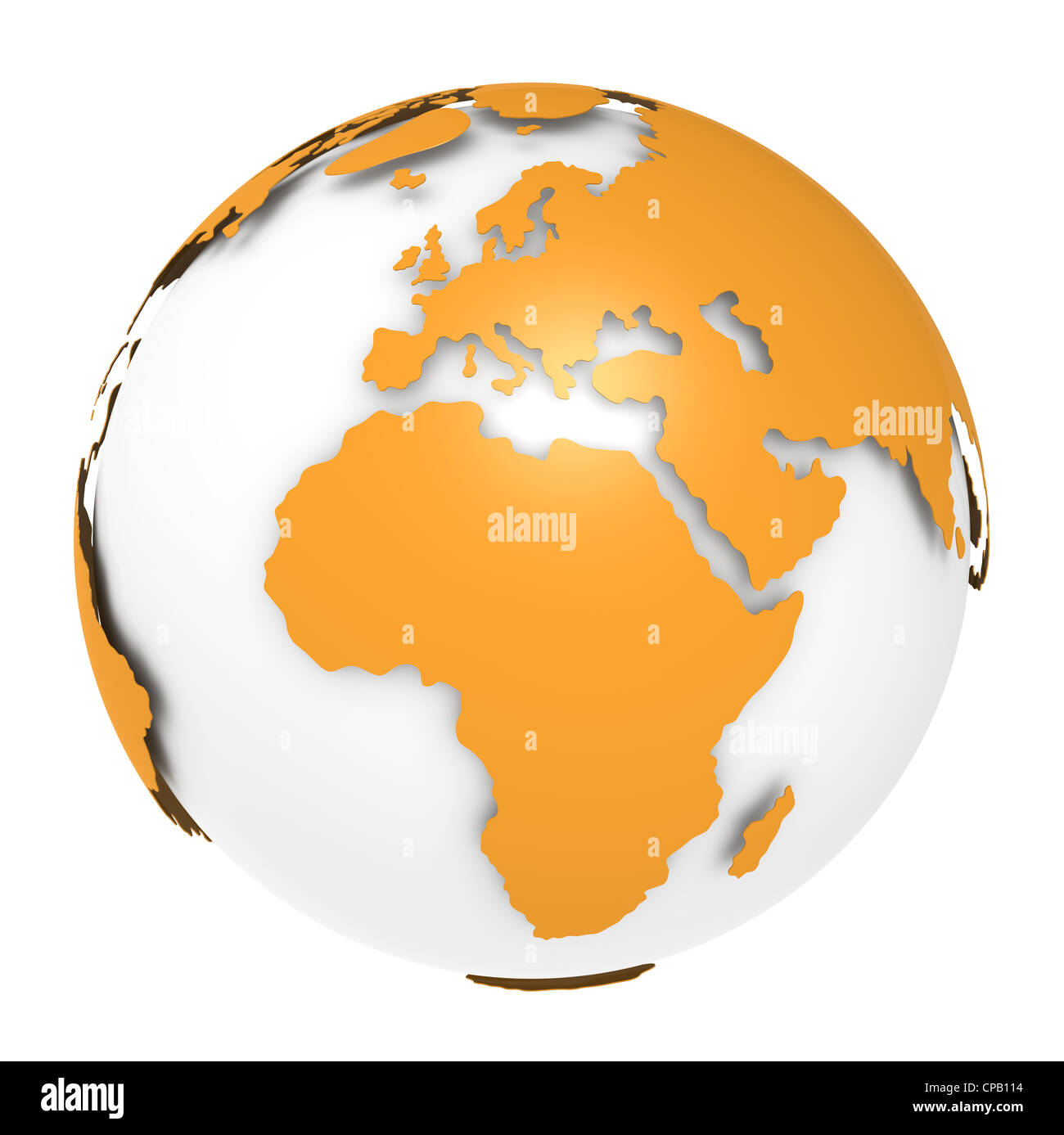 The Earth, Orange Shell design. Sparse and Isolated. - Stock Image