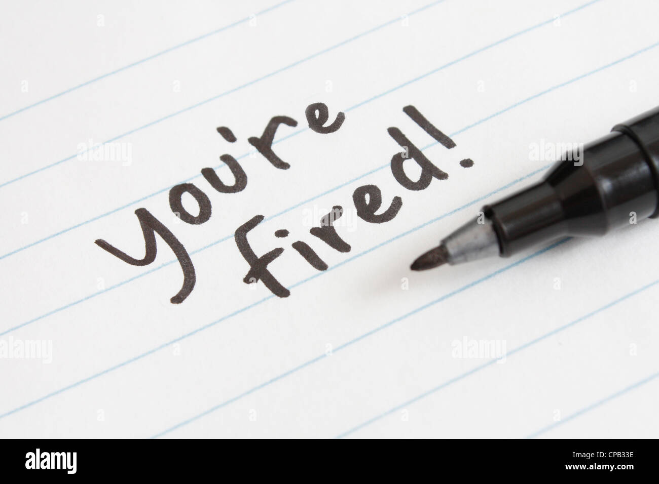 you're fired - Stock Image