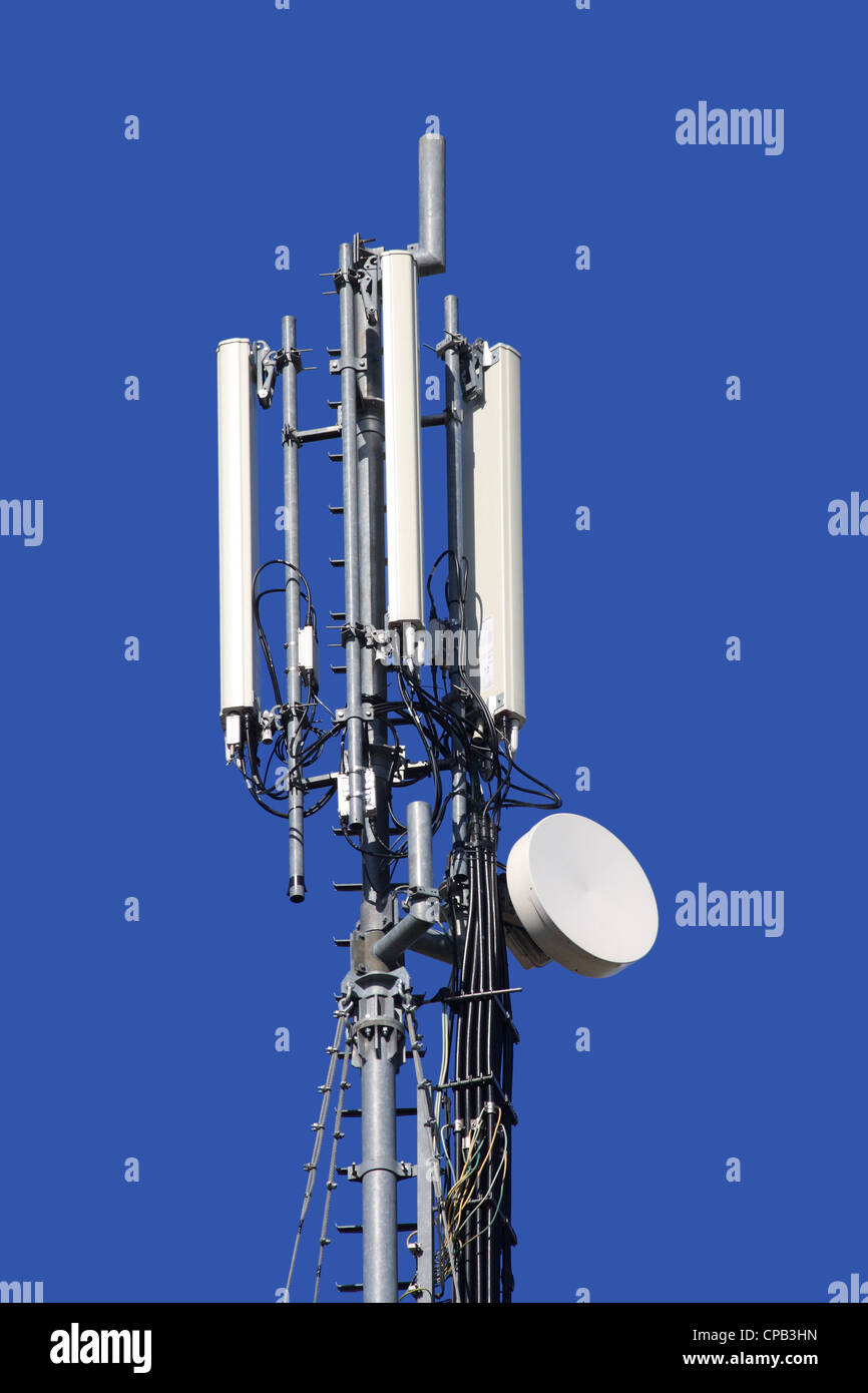 A mobile phone communication repeater antenna - Stock Image