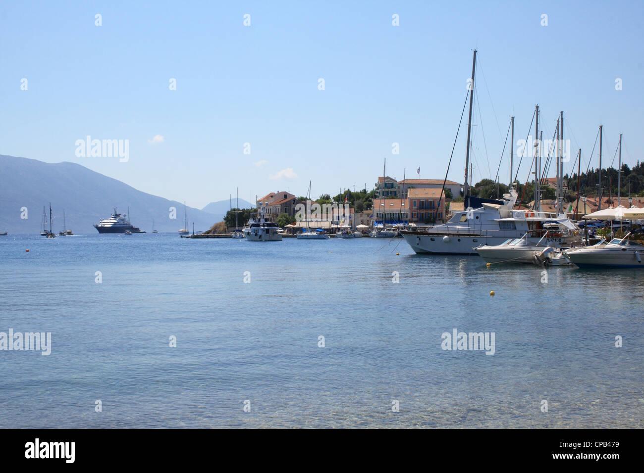 fiskardo, kefalonia, greece, port, 'ionian, islands' - Stock Image