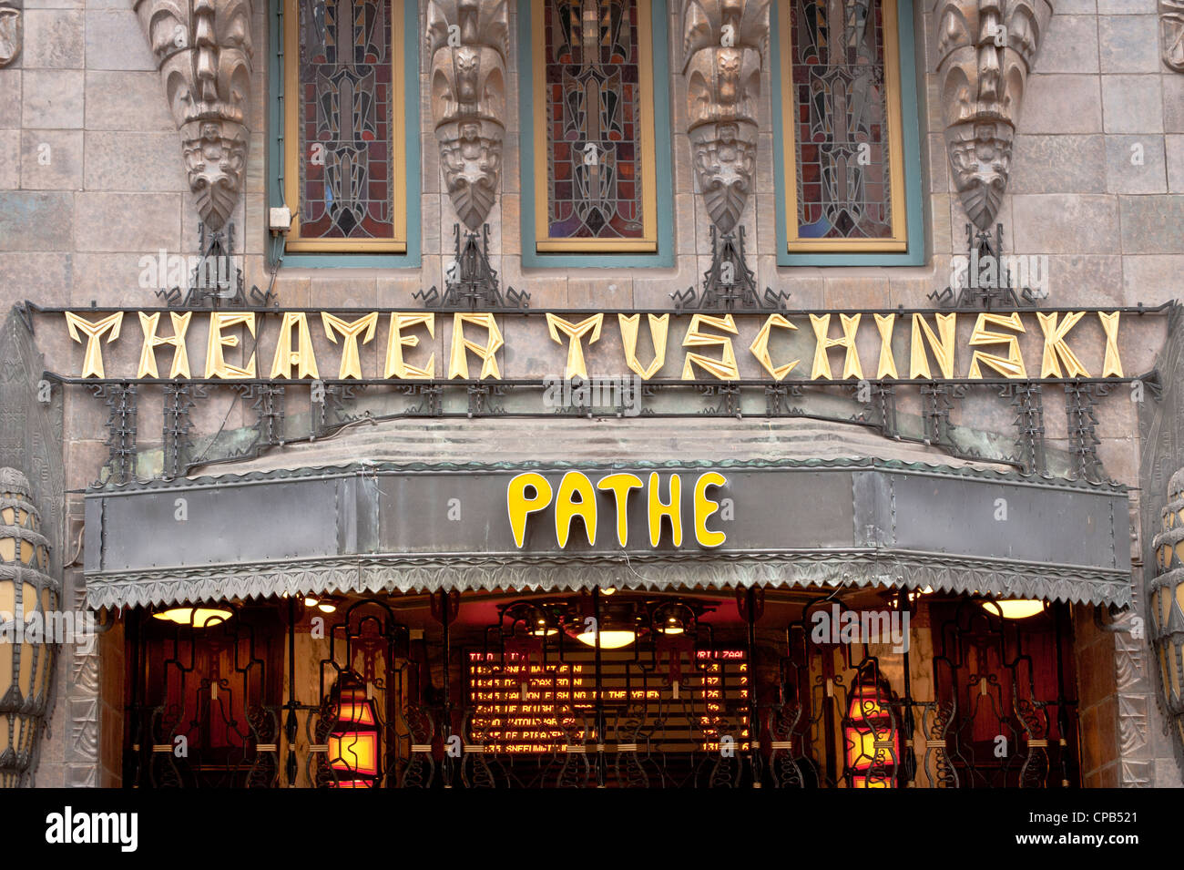 Pathé Tuschinski Cinema in Amsterdam - Stock Image