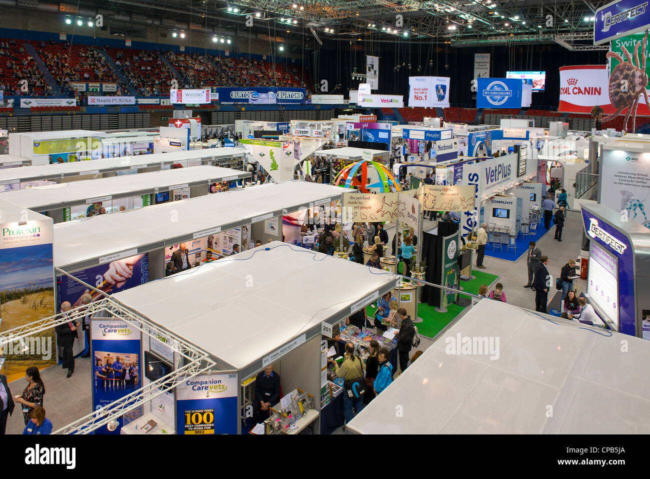 The National Indoor Arena (NIA) hosting an exhibition. - Stock Image