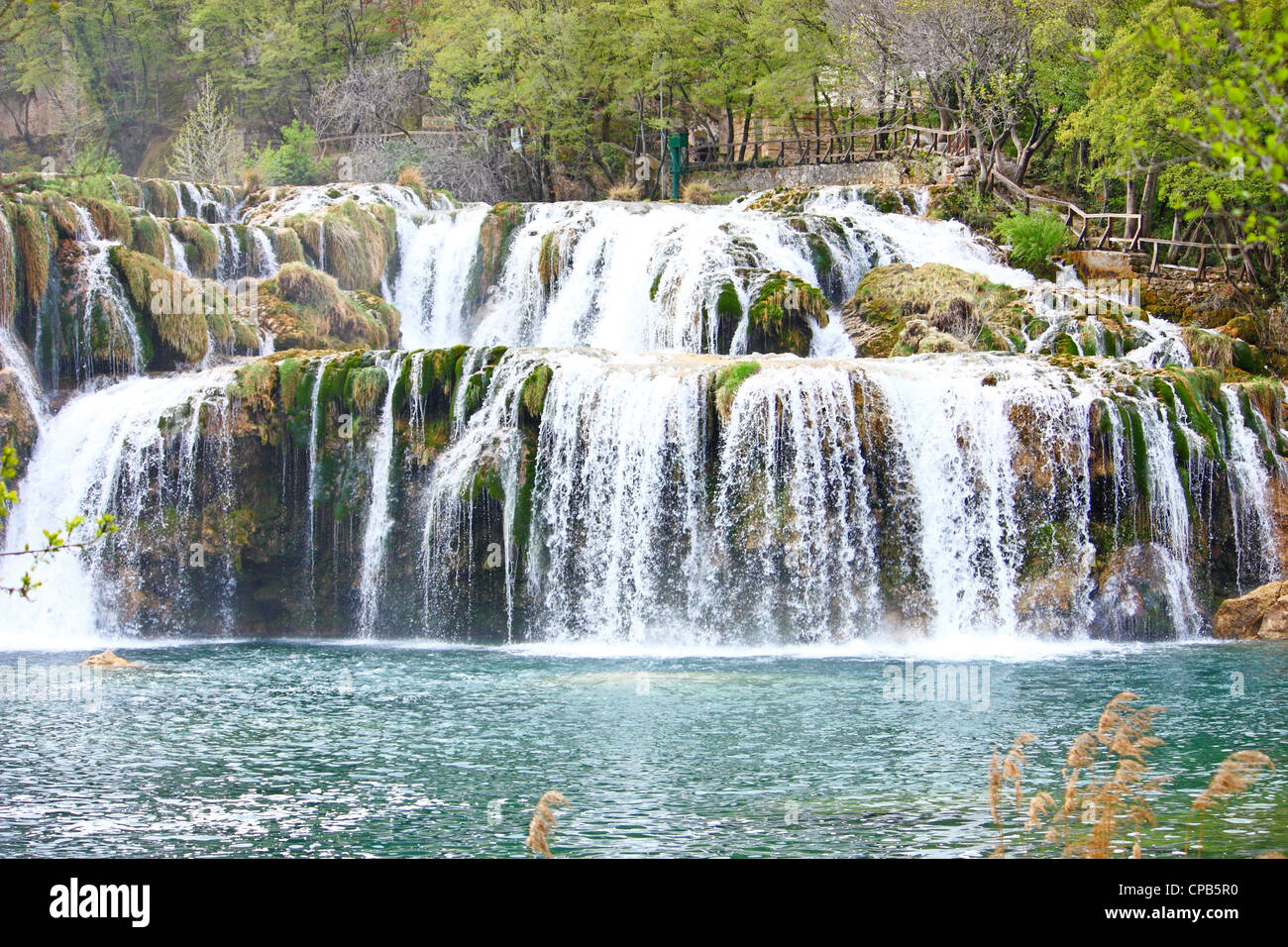 National park Krka, waterfall on Krka river, Croatia Stock Photo