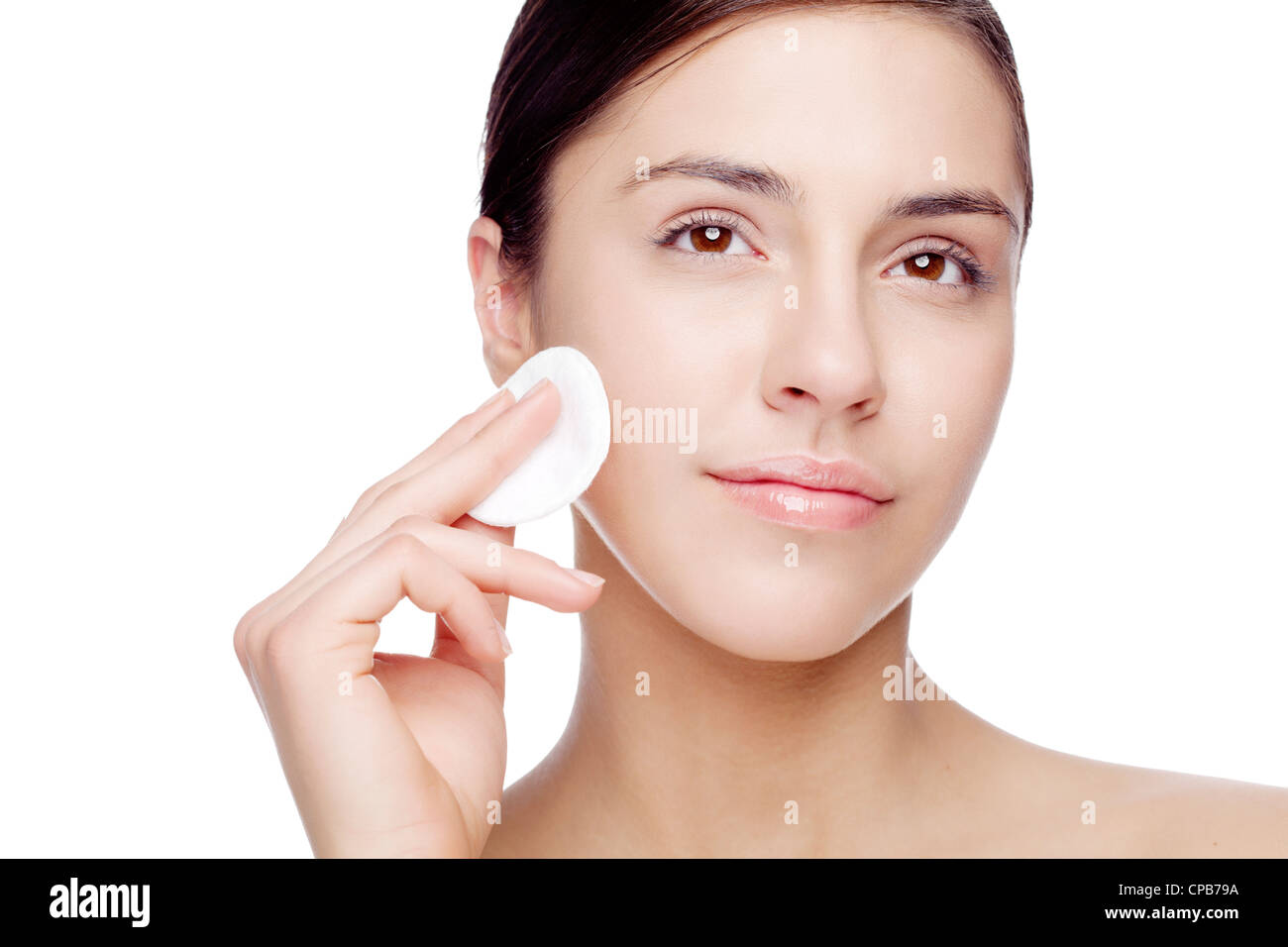 face cleaning - Stock Image
