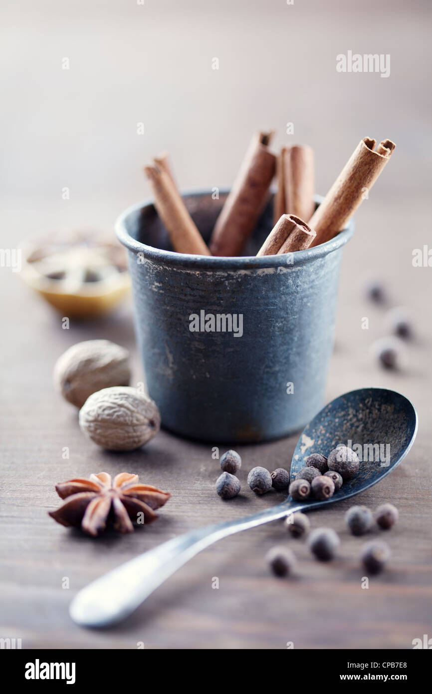 herbs and spices - Stock Image
