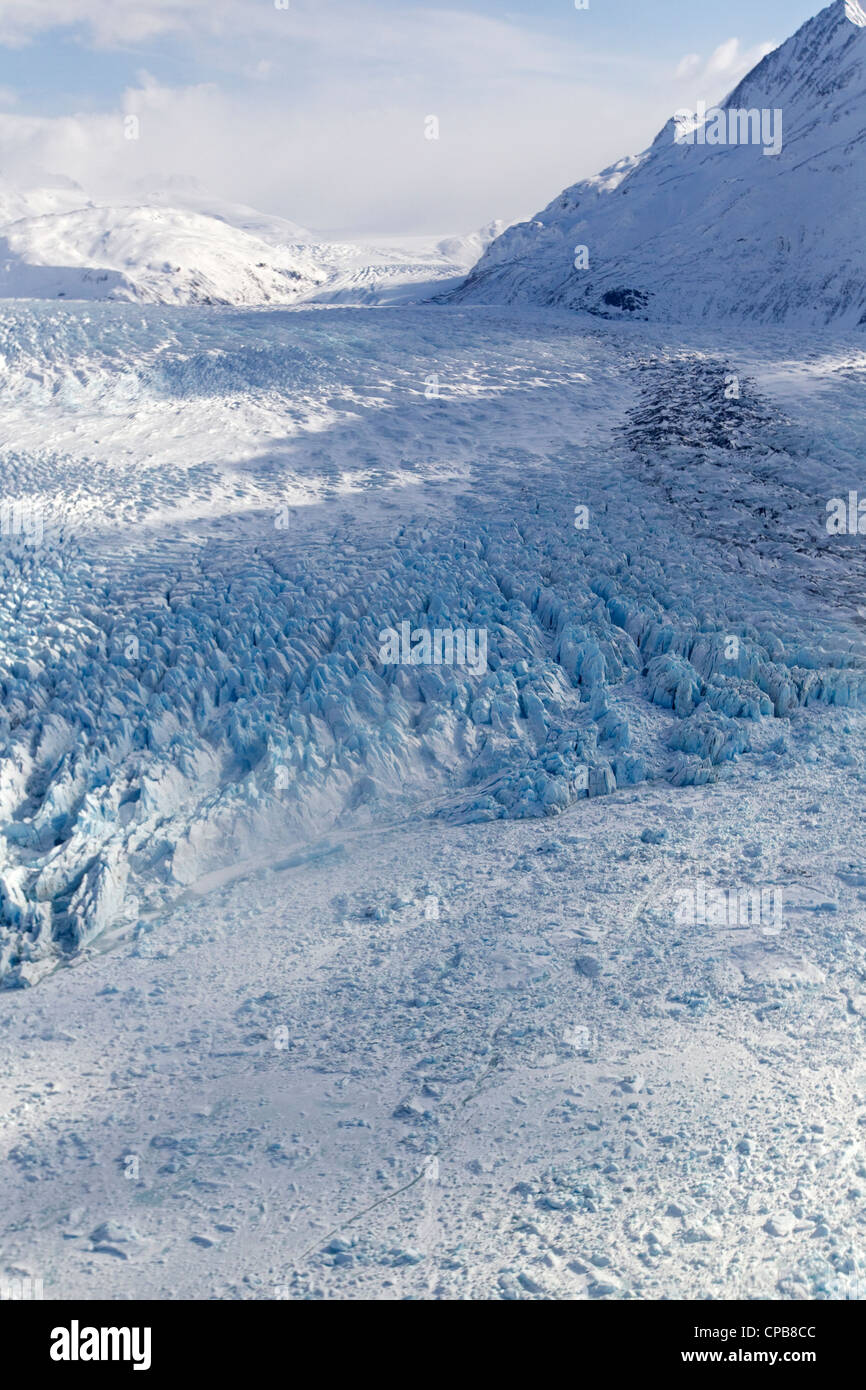 Knick Glacier, Chugach Mountains, Alaska mountain range, Alaska - Stock Image