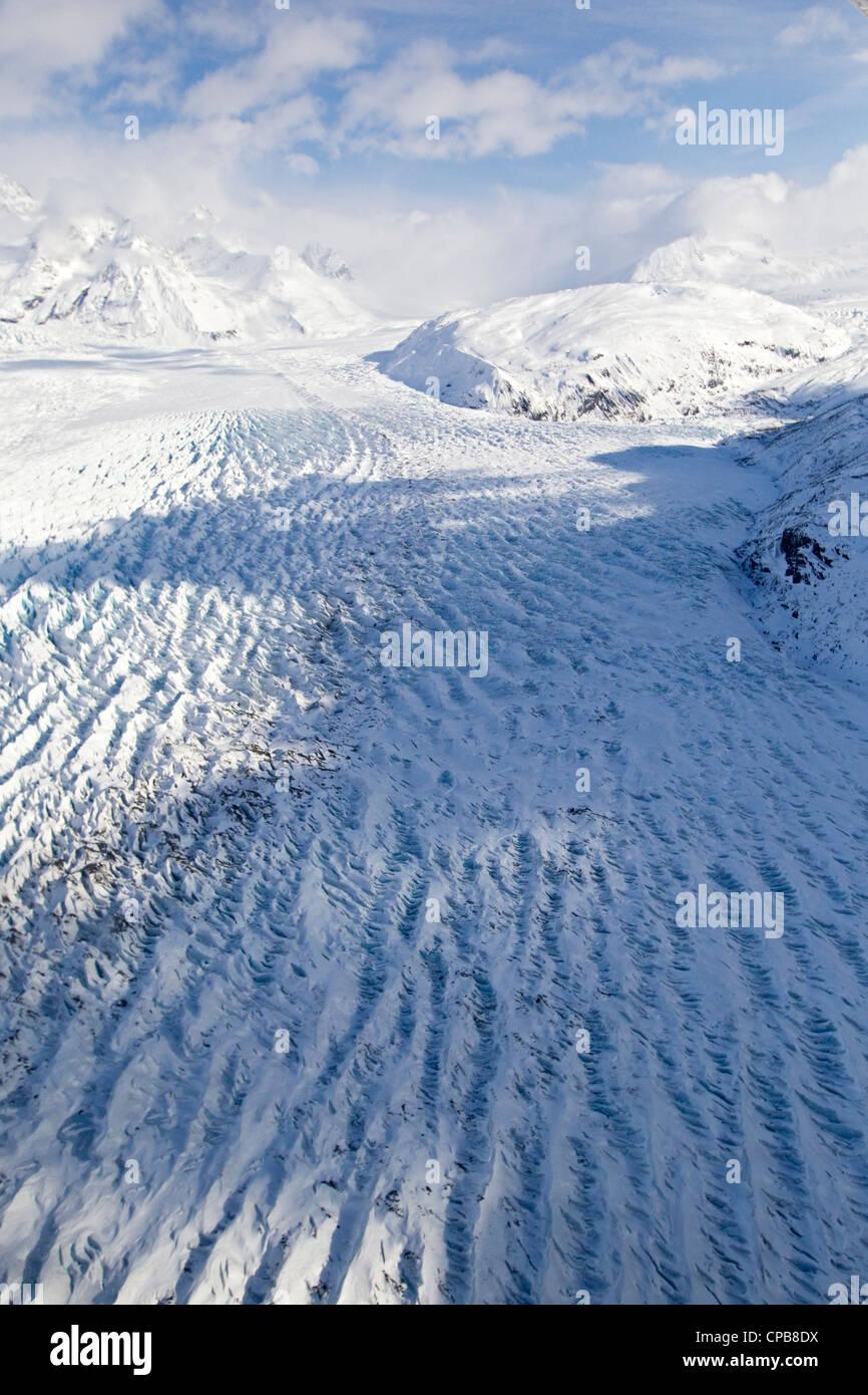 Knik Glacier in Chugach Mountains, Alaska - Stock Image