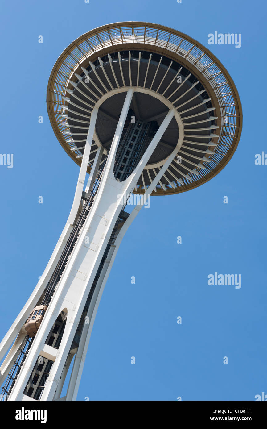 Space Needle Seattle Center Stock Photo