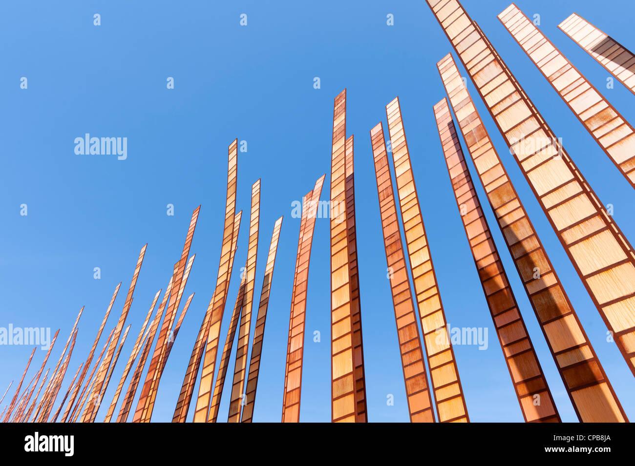 Grass Blades sculpture, Seattle Center - Stock Image