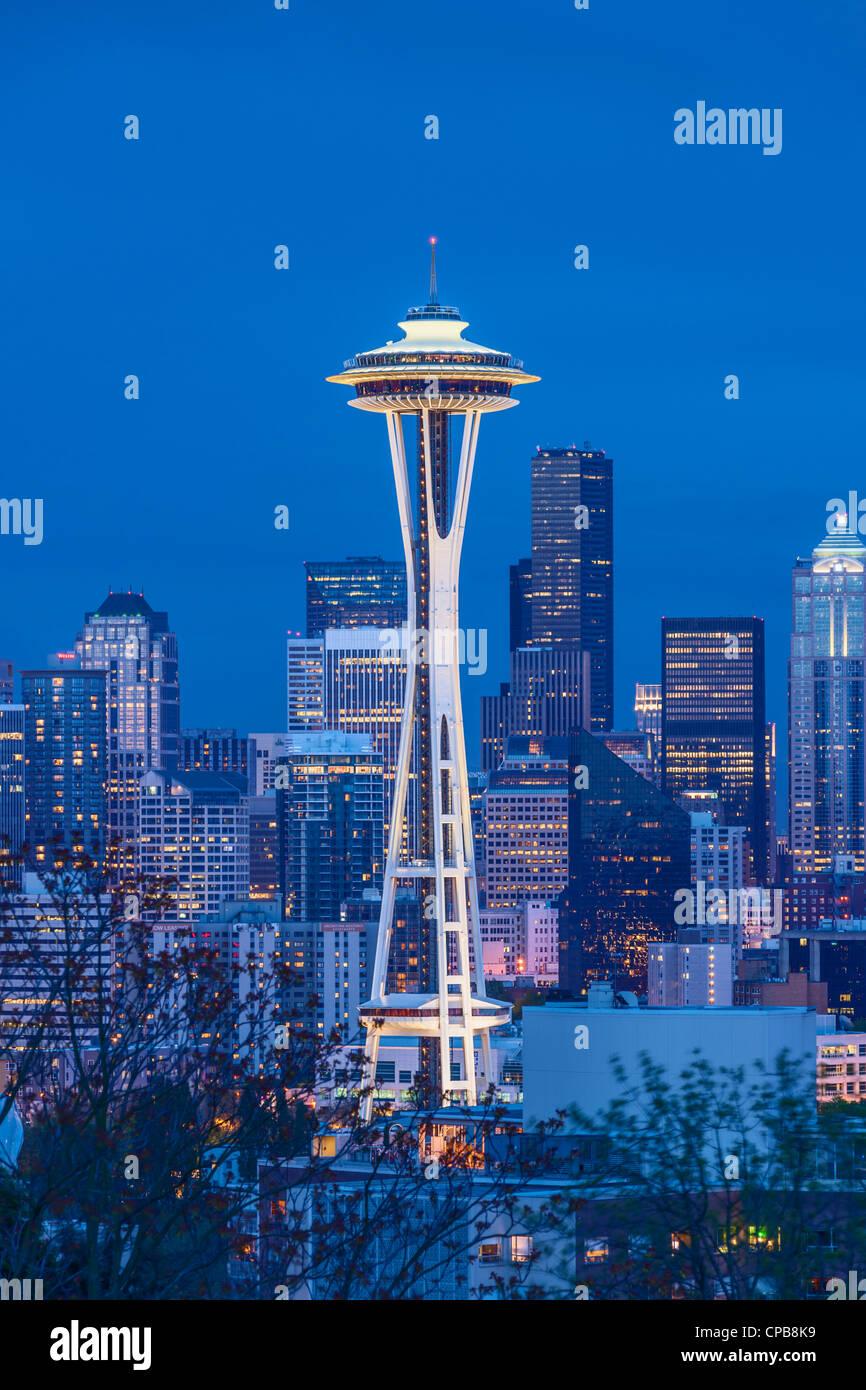 Space Needle Seattle Skyline Stock Photo