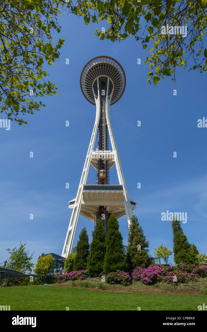 Space Needle Seattle Center Stock Photo