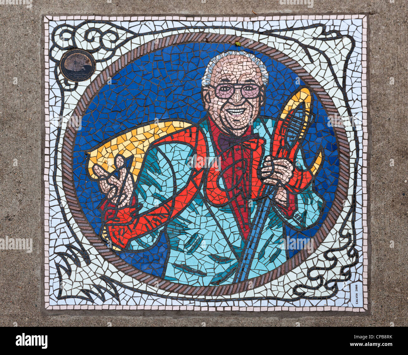 Swing of Things mosaic, Vancouver - Stock Image
