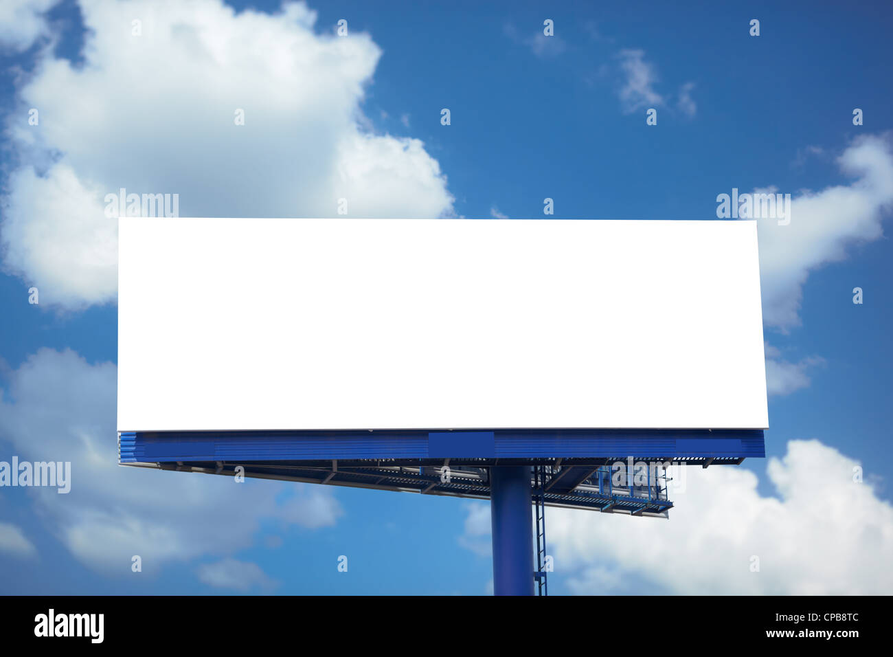 Outdoor advertising empty poster - Stock Image