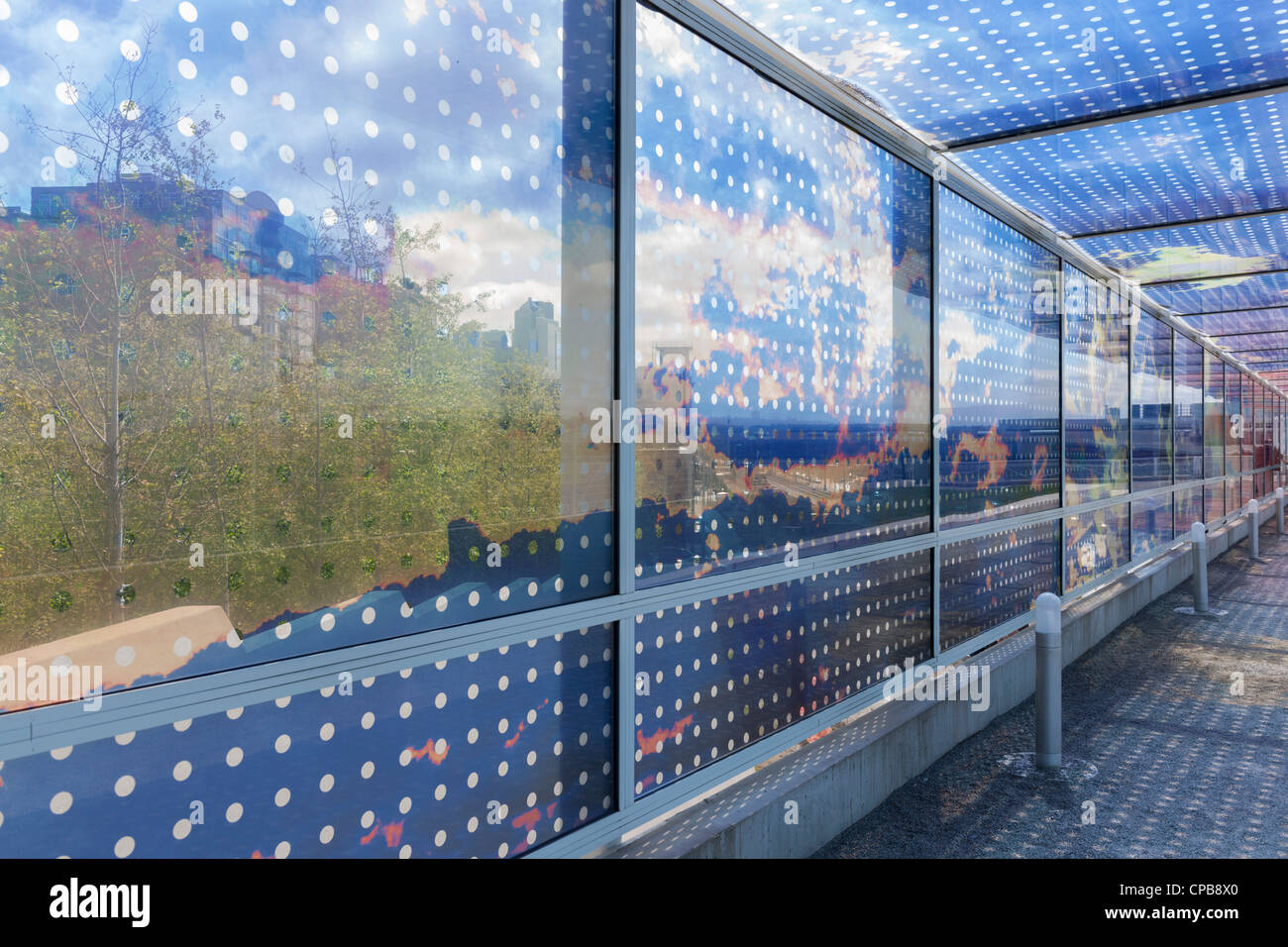 Seattle Cloud Cover, Olympic Sculpture Park - Stock Image