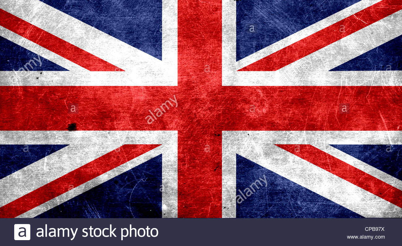 Dirty Flag Of Great Britain Union Jack