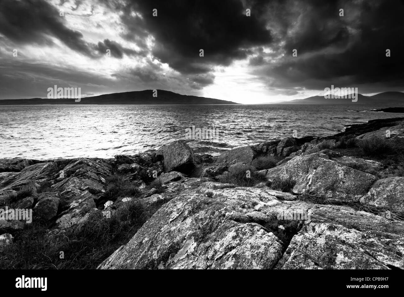 Isle of Taransay from Harris - Stock Image