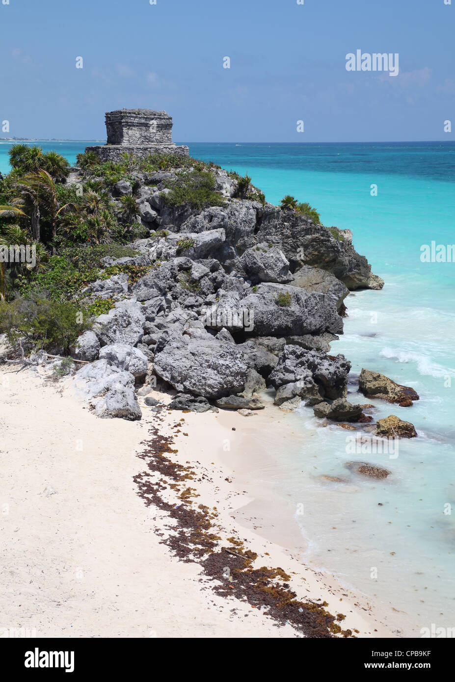 Tulum ruins, Mexico, Quintana Roo, Yucatan - Stock Image
