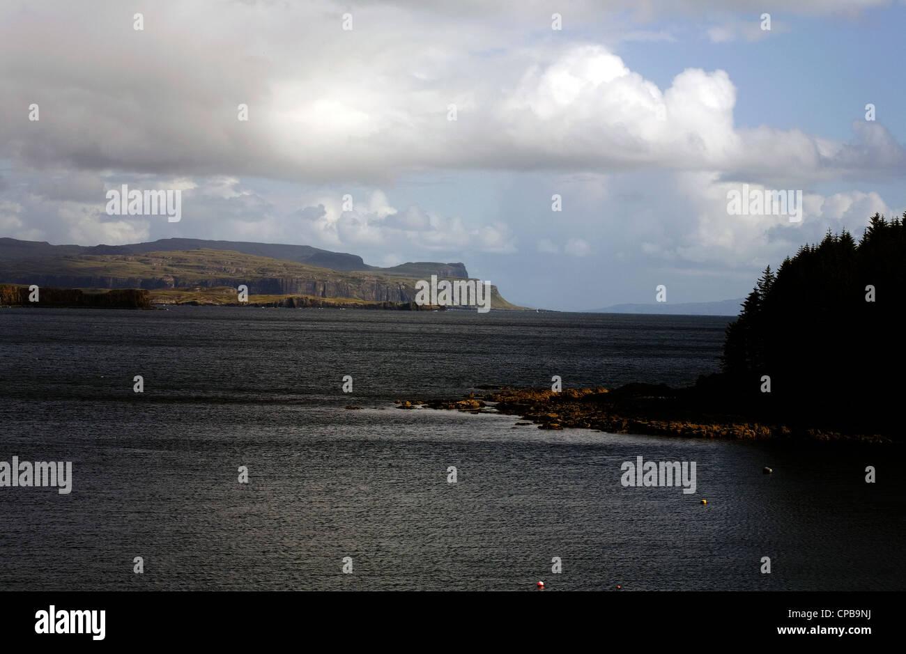 Loch Bharcasaig looking towards Loch Bracadale and Minginish  Isle of Skye Scotland Stock Photo