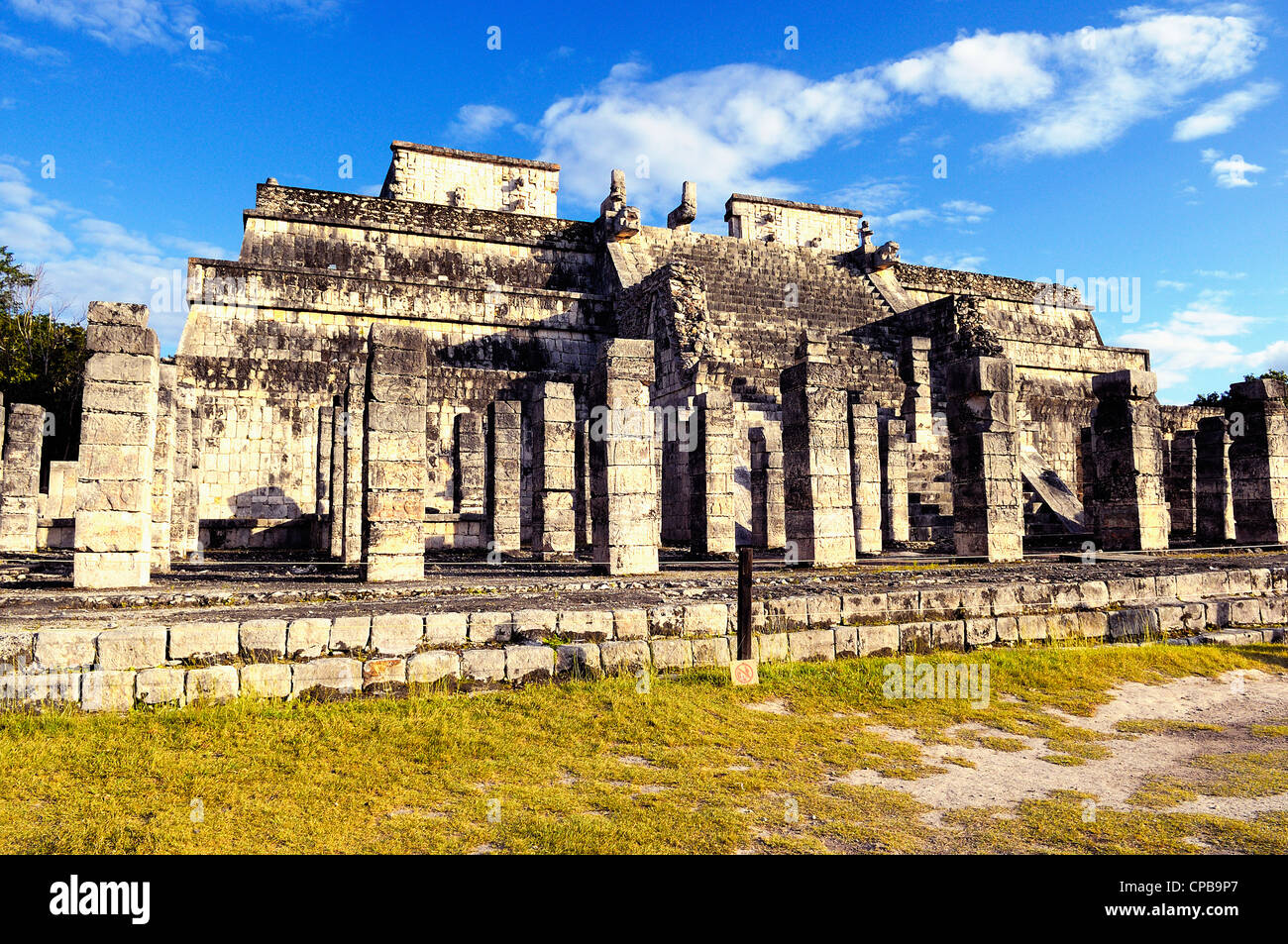 Chichen Itza feathered serpent pyramid, Mexico - Stock Image