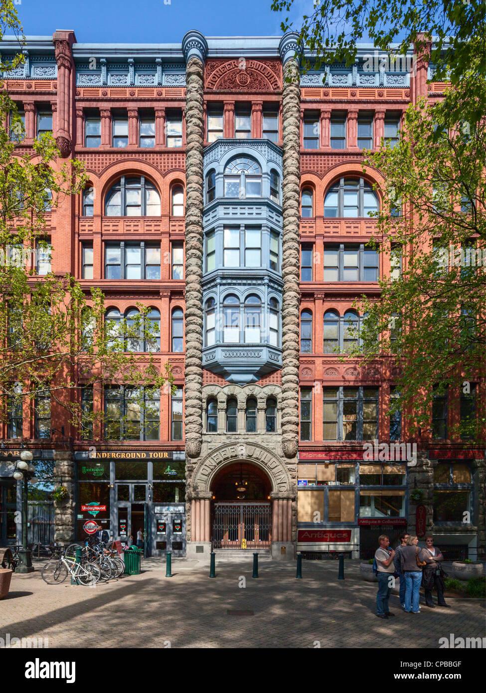 Pioneer Building, Seattle - Stock Image