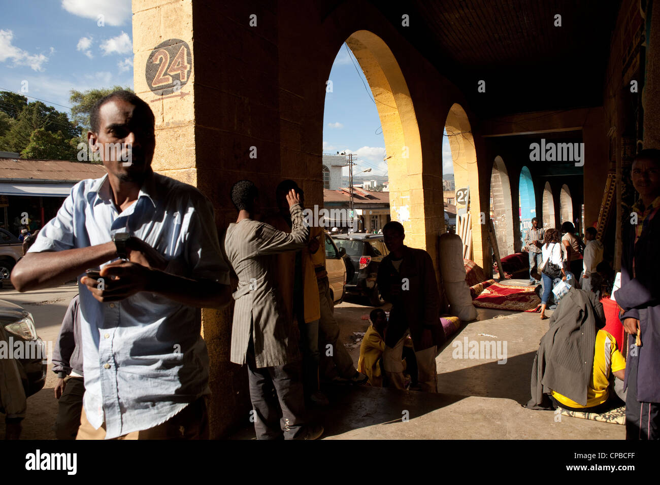 Merkato - Downtown Addis Ababa, Ethiopia. - Stock Image