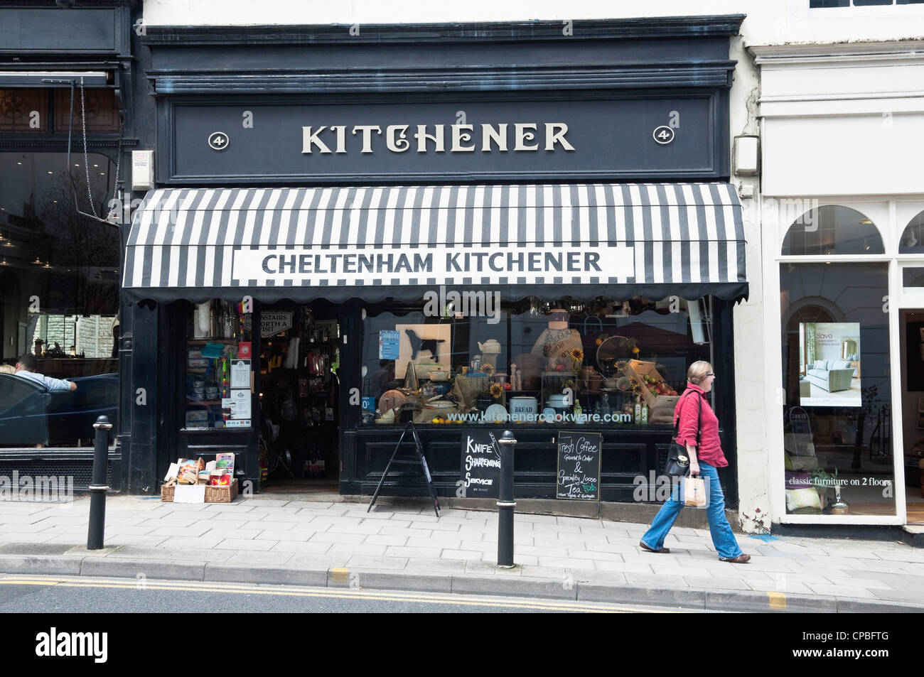 Cheltenham Kitchener - a specialist kitchen equipment shop, situated opposite the Queens Hotel, Montpellier,  Cheltenham, - Stock Image