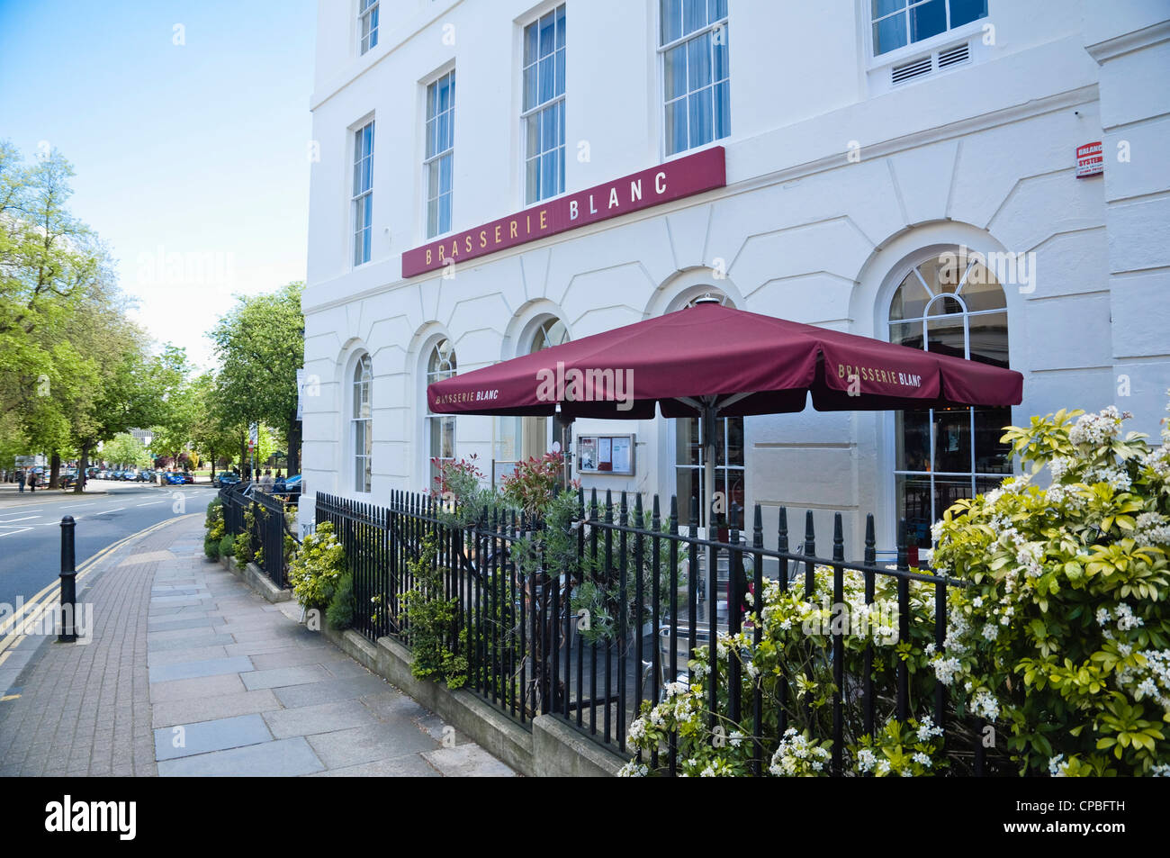 Brasserie Blanc - restaurant situated within the Queens Hotel,  Montpellier, Cheltenham, Gloucestershire, UK. - Stock Image