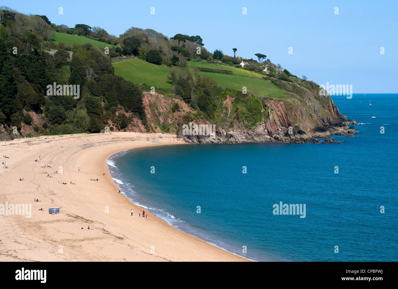 blackpool sands,Devon,Blackpool sands,South Hams,Devon,sands, Bay,South Hams,Devon, Battle of Blackpool Sands - Stock Image