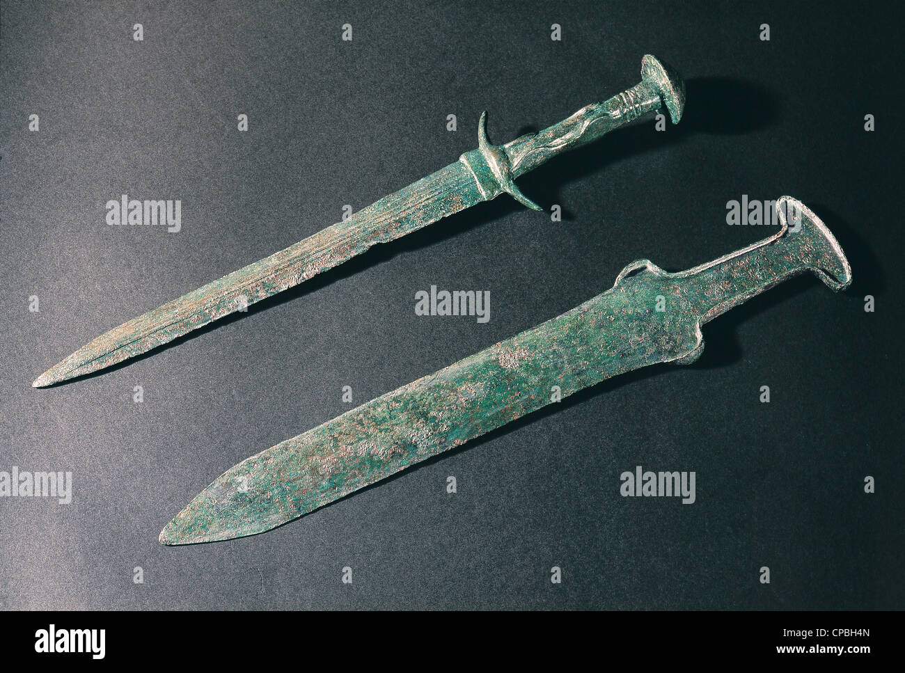 Swords discovered in Troy excavations Çanakkale Museum Turkey - Stock Image