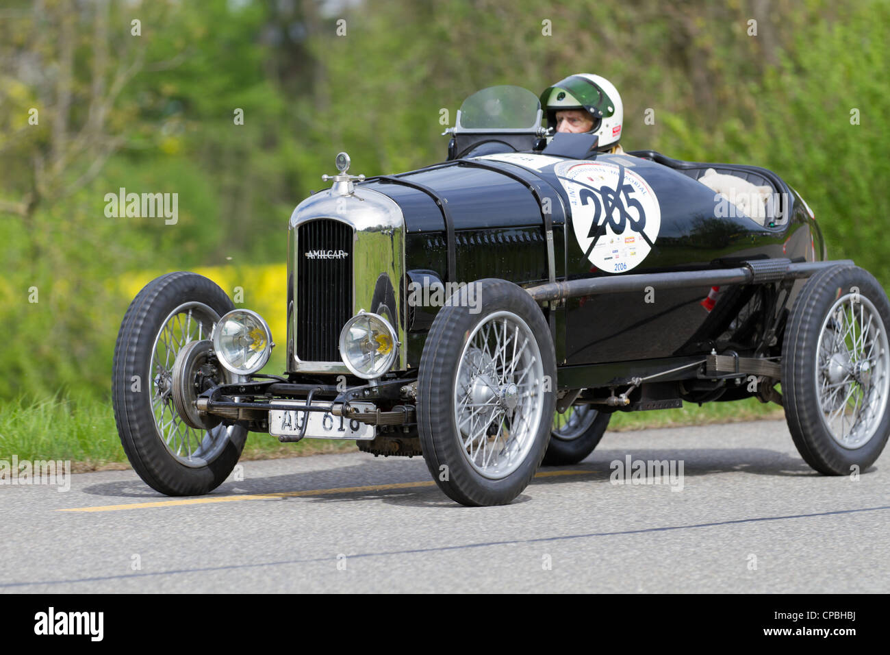 Vintage pre war race car Amilcar CG SS from 1926 at Grand Prix in Mutschellen, SUI on April 29, 2012. - Stock Image