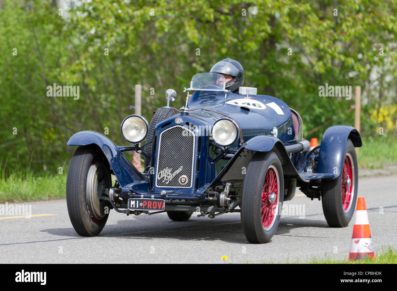 Vintage Pre War Race Car Alfa Romeo Grand Sport From 1931 At Grand Prix In  Mutschellen