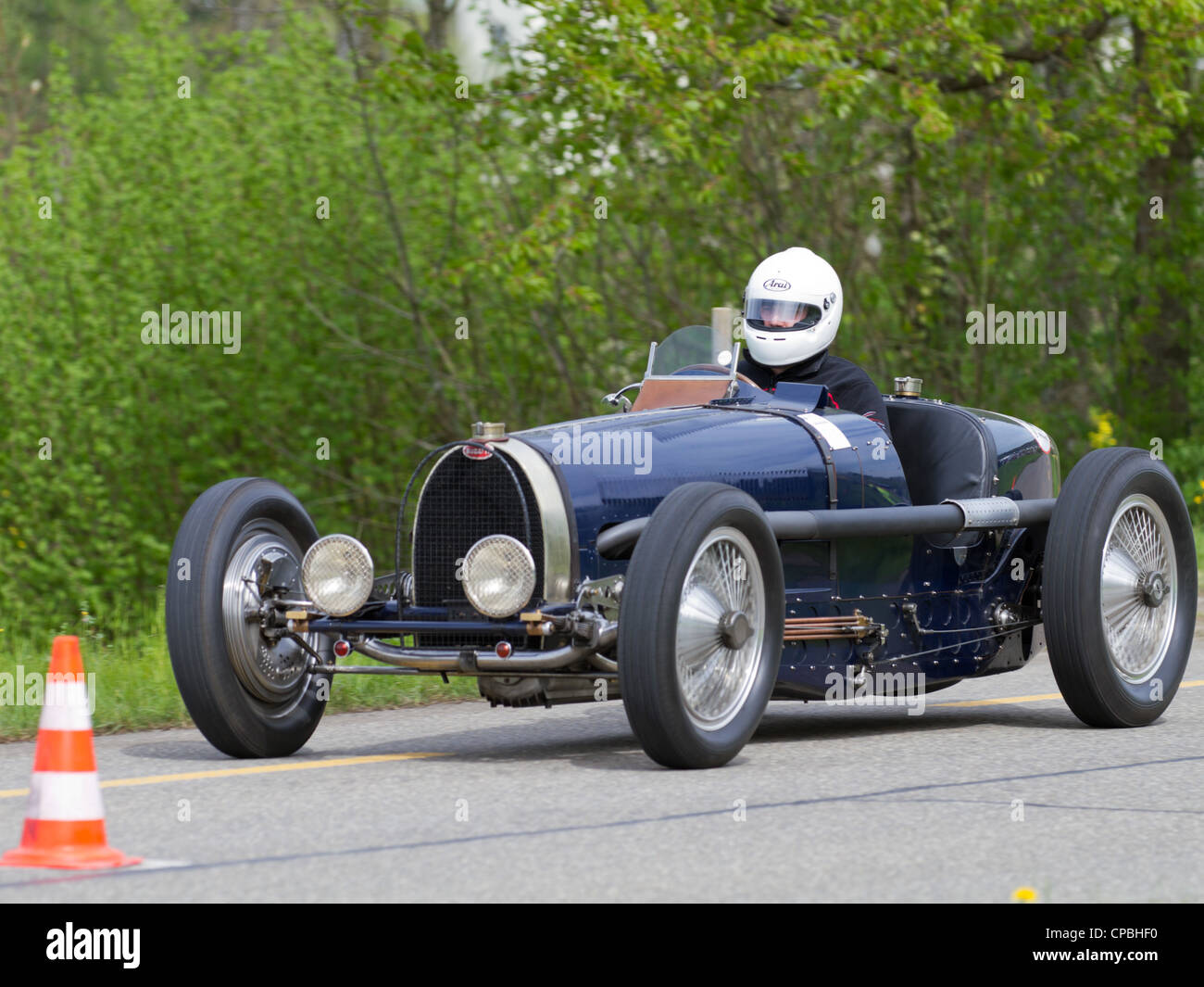 vintage pre war race car bugatti t 59 from 1934 at grand prix in stock photo 48198388 alamy. Black Bedroom Furniture Sets. Home Design Ideas