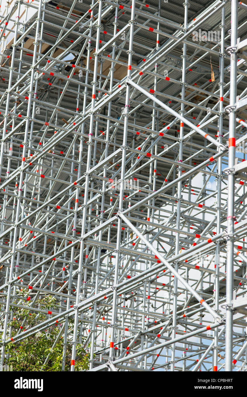 Scaffolding in London, England. - Stock Image