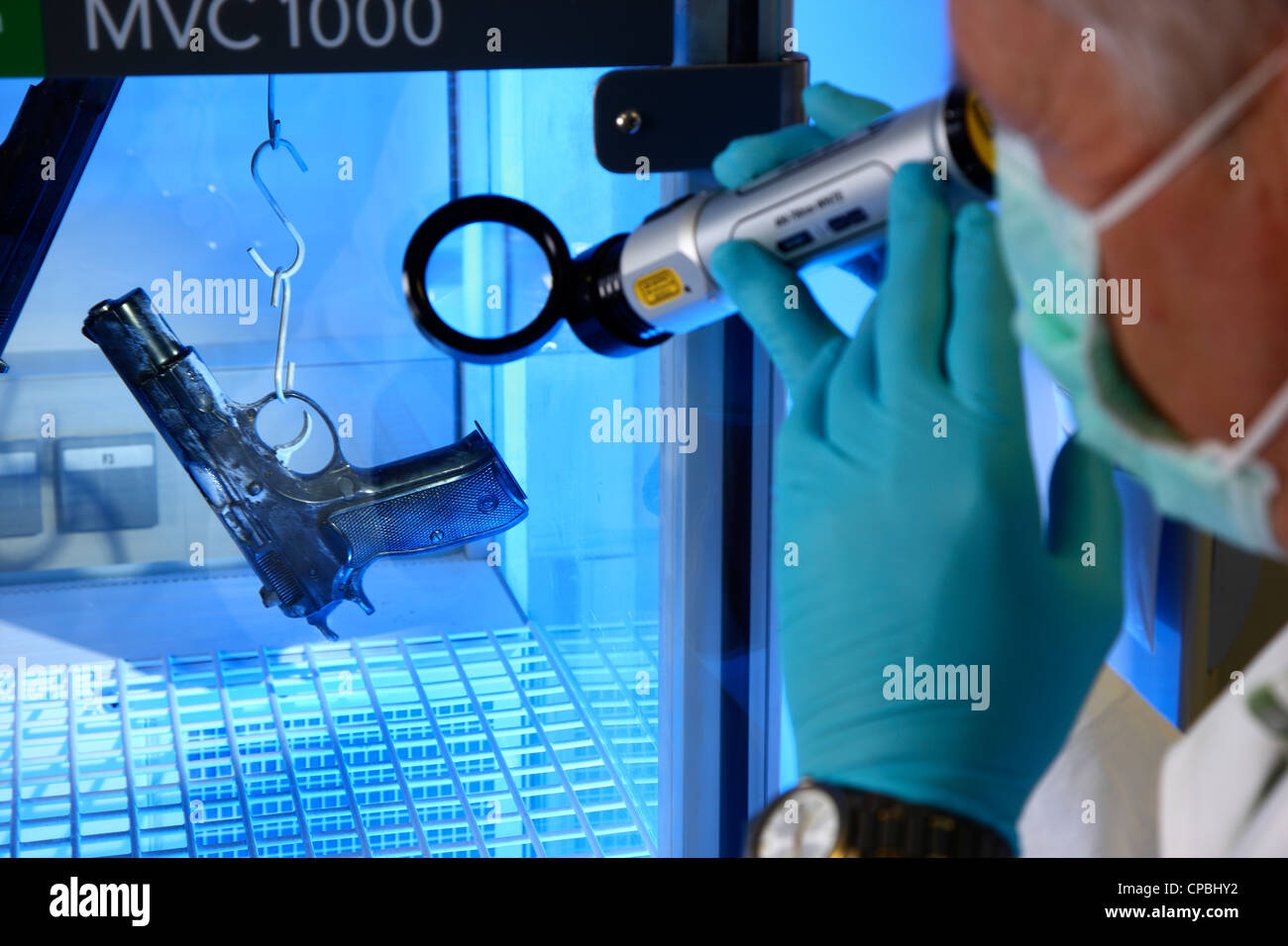 Police. State Office of Criminal Investigations. Crime scene investigations. Crime lab. Technical investigation - Stock Image