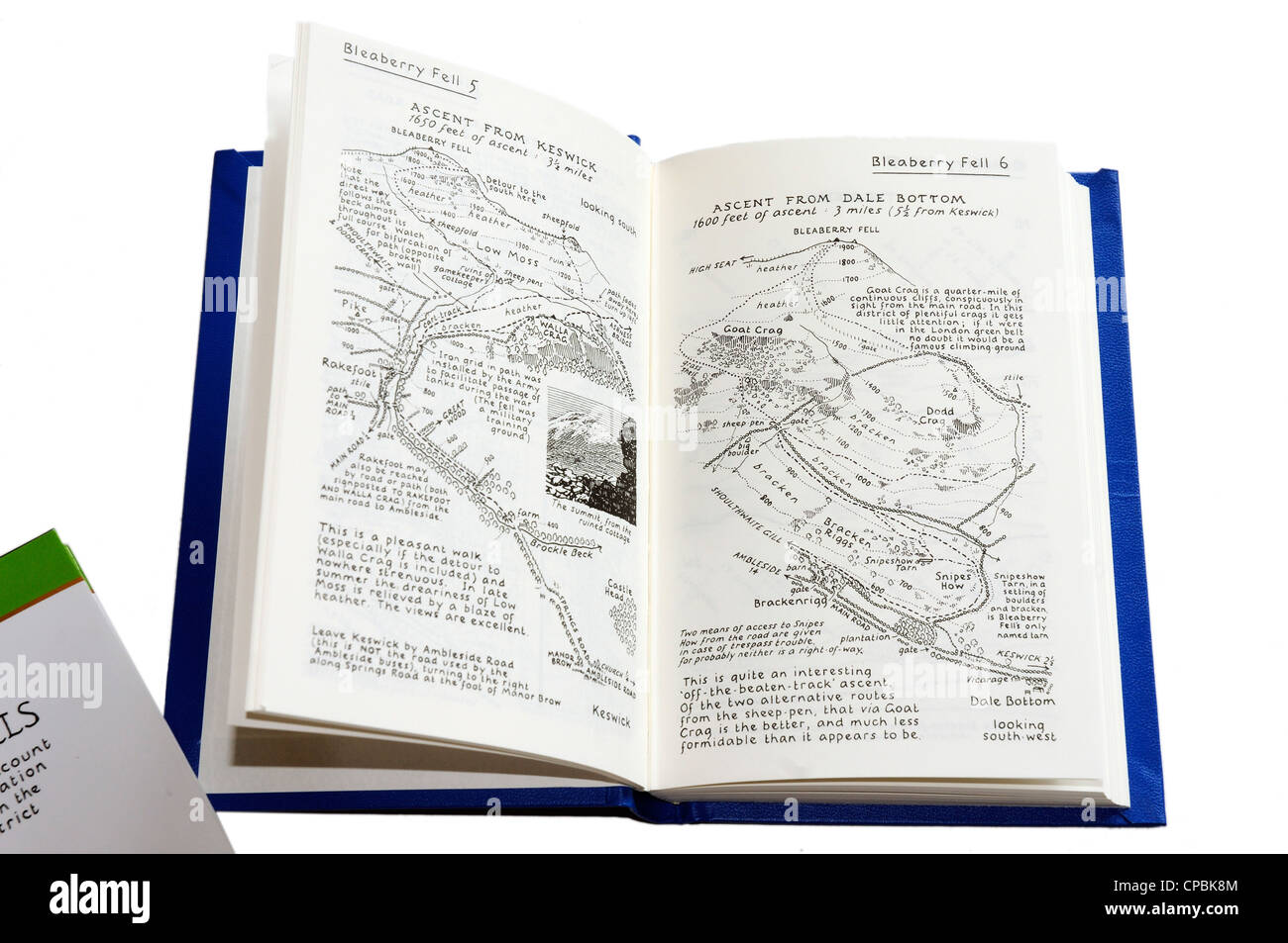 Alfred Wainwrights famous Pictorial Guide to the Lakeland Fells - Stock Image