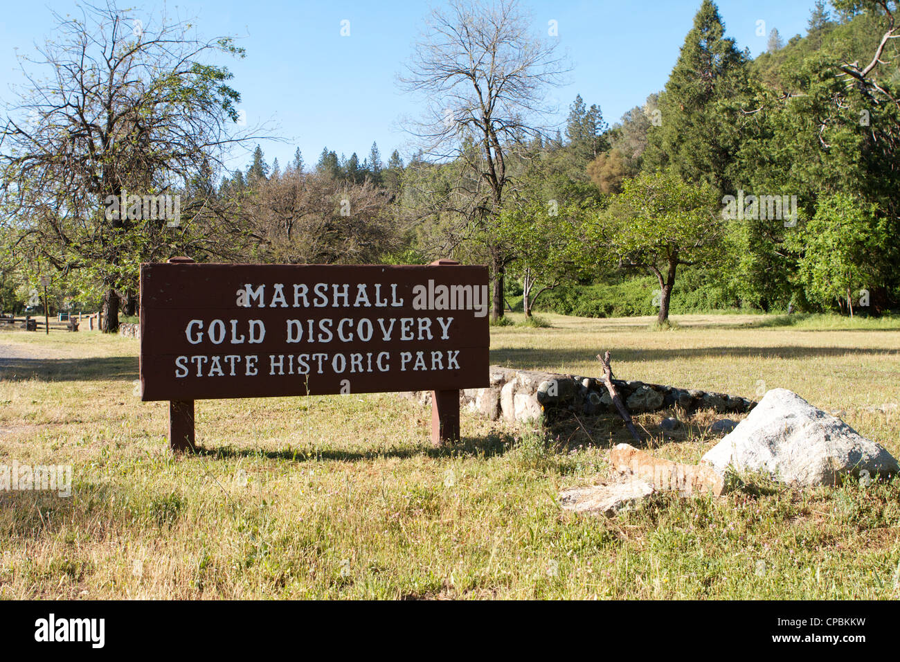 Marshall Gold Discovery state historic park Sutter's Mill, California, USA - Stock Image