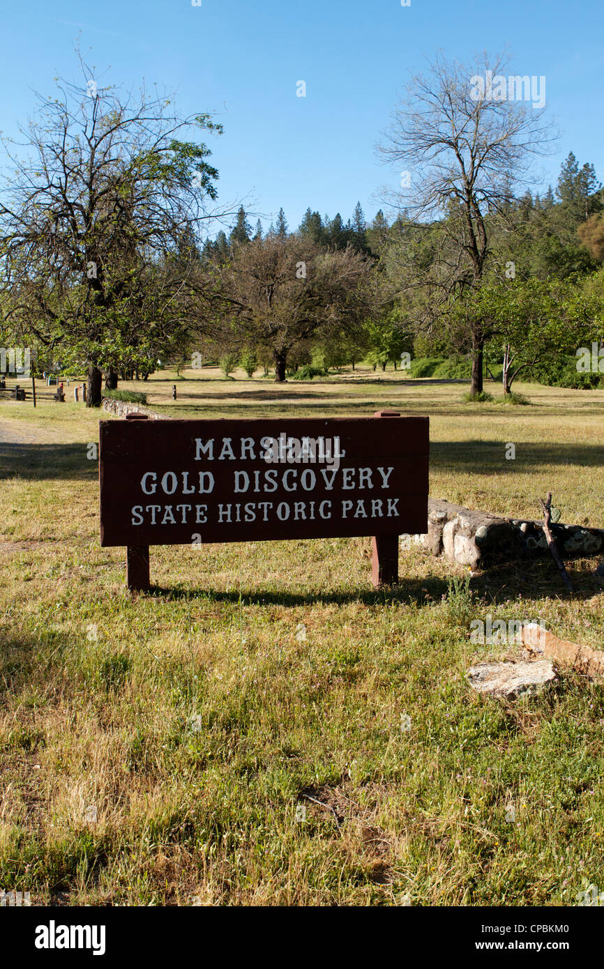 Marshall Gold Discovery state historic park Sutter's Mill, California, USA Stock Photo