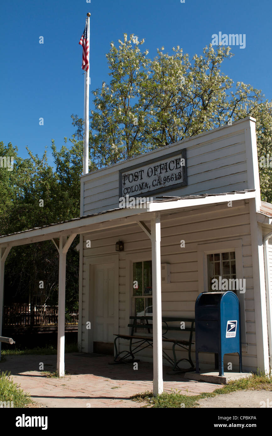 The US Post Office at the Marshall Gold Discovery state historic park in Coloma - Stock Image