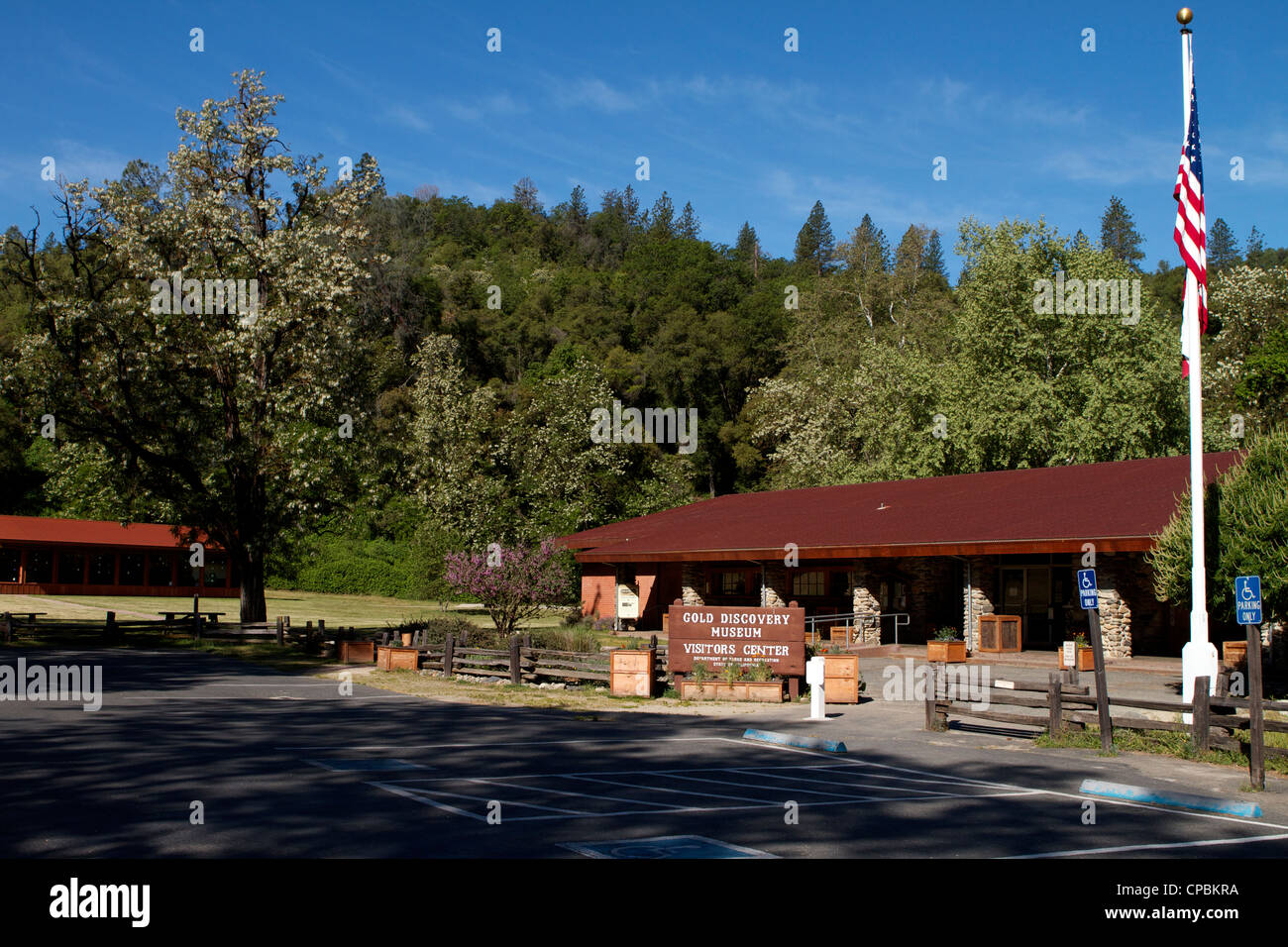James Marshall gold discovery museum and visitor center  Coloma California - Stock Image
