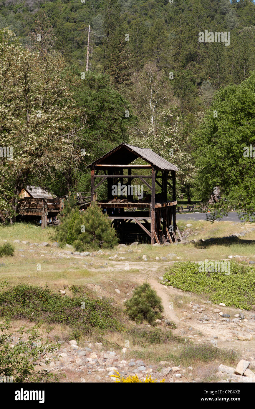 Sutter's Mill Marshall Gold Discovery state historic park in Coloma California - Stock Image