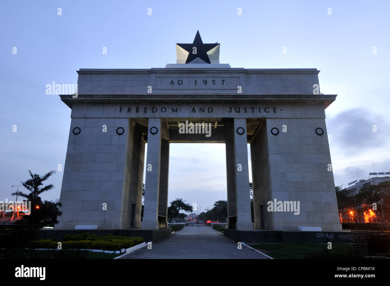 Independence Arch East Facing Side, Accra, Ghana - Stock Image