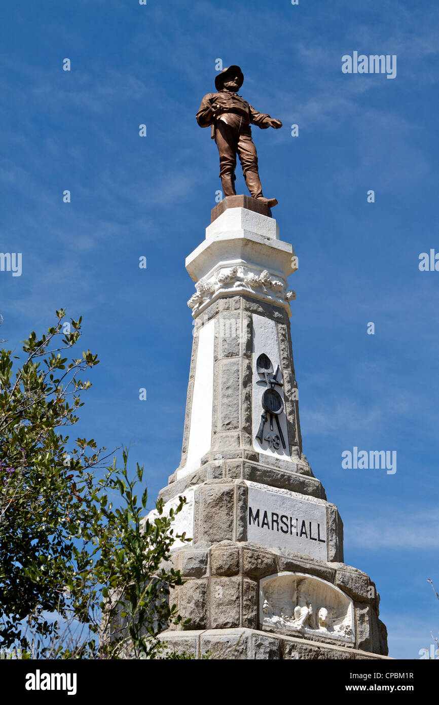 James W Marshall Monument Marshall gold discovery park Coloma California - Stock Image