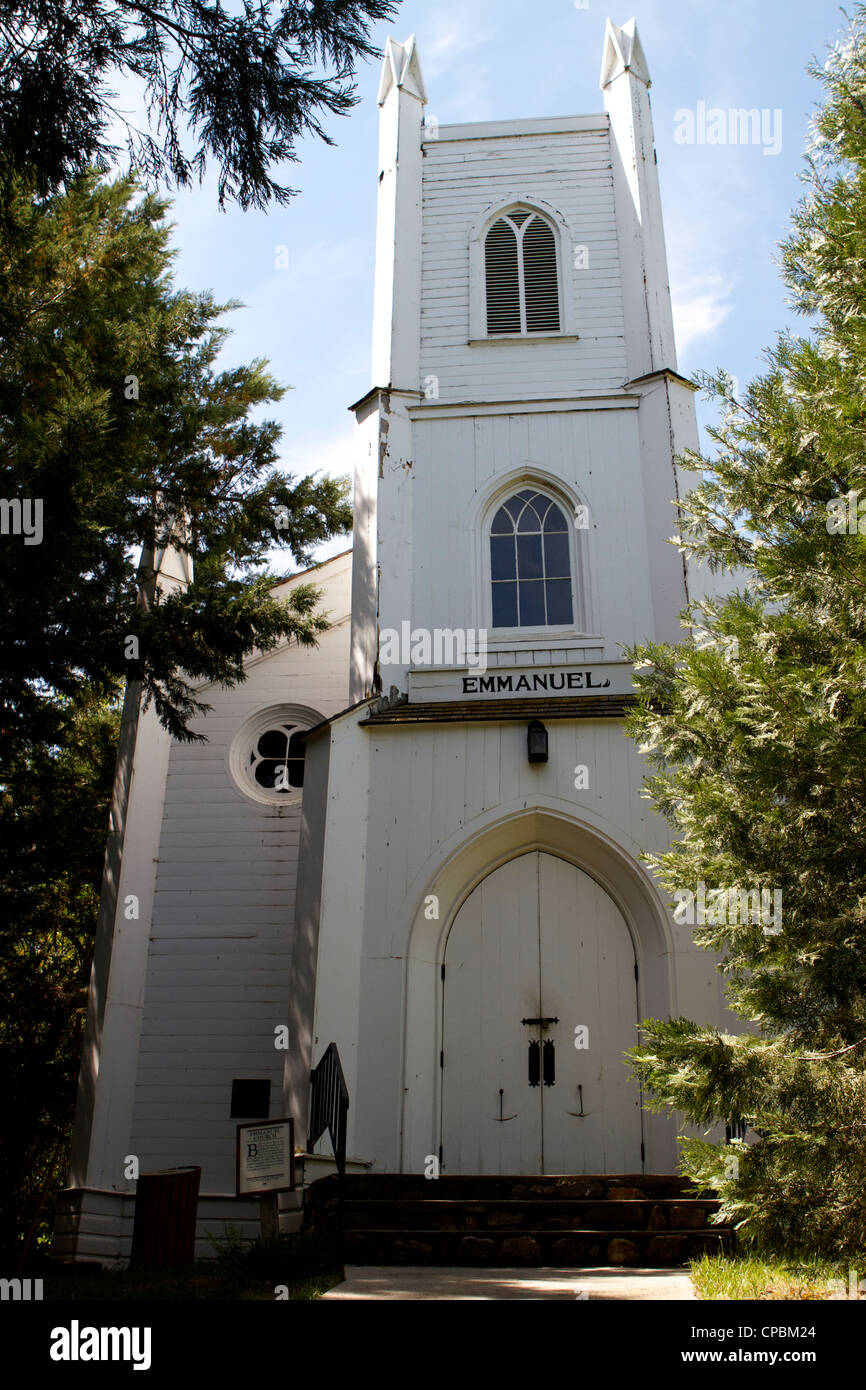 Emmanuel Church Coloma in the Marshall Gold Discovery state historic park, California , USA - Stock Image