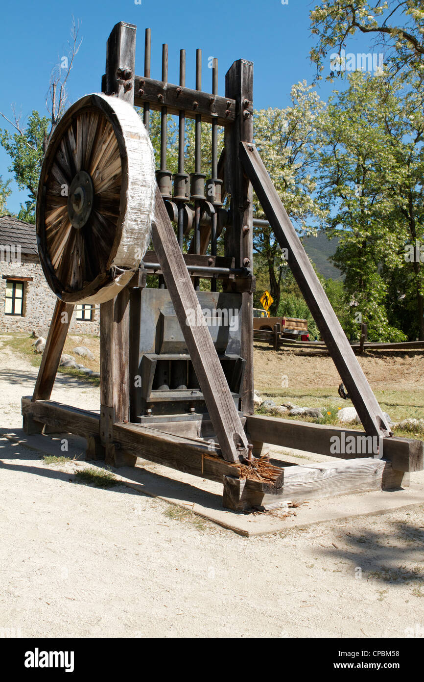 California Stamp Mill Marshall Gold Discovery Coloma . - Stock Image